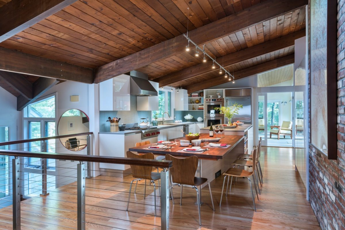 A kitchen design and remodeling project