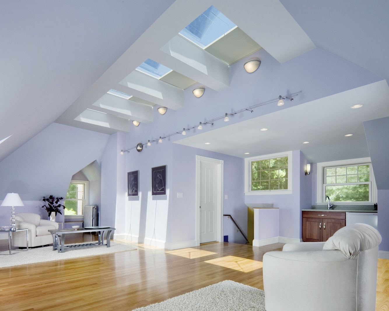 Modern Attic Renovation Newton Our Remodels